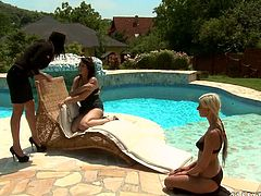 Two sextractive lesbian babes love fingering and eating each others snatches outdoor. Enjoy watching pool sex fun sex tube video for free.