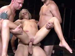 Gang fucking Aiden Aspen's holes. She enjoys getting bound and fucked and blasted with hot jizz loads and the way it runs down when the warm gooey cum is shot upon her face.