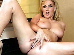 Georgie Lyall cant live a day without toying her love tunnel