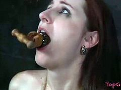 Top Grl brings you a hell of a free porn video where you can see how the hot brunette Lady Kat gets tortured by Sister Dee while assuming very interesting poses.