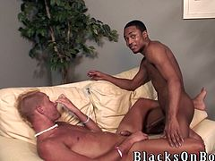This White dude loves sex with Blacks more than anythings else. He loves deep anal penetration but first he needs to suck a big black cock to make it hard and wet.