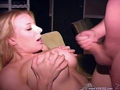 Have a look at this amateur scene where this horny blonde is fucked by this guy after she sucks on this hard cock while the camera films.