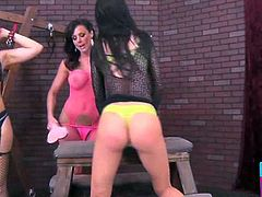 Kendra Lust gets dominated by Kendall Karson and Sheena Ryder in this awesome free porn video provided by Pornstar Platinum. Watch the horny brunettes starting a hell of a bdsm lesbian party!