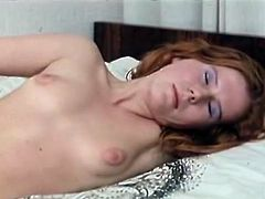 Filthy and sexy bitch with red hair and hot ass wants to fuck and joins the couple. Two bitches suck the dick on the bed. Have a look in steamy The Classic Porn sex clip.