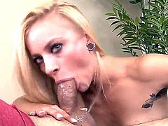 Horny blonde named Cameron Canada sucks Johnny Fenders cock and gets pleasure