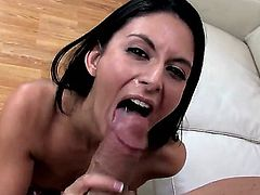 Billy Glide got his hot semen swallowed by wild brunette porn star Nikki Daniels