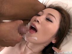 Alluring Japanese chick Asumi Ogawa and her man make out and lick each other's privates. Then they have sex in cowgirl and missionary positions and enjoy it much.