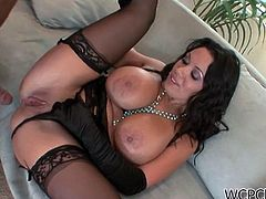 This horny black dudes works up some steam pounding his big black boner in the hot twat of sexy brunette Sienna West in this free sex movie.