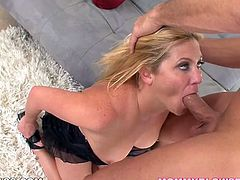 Deepthroating time with submissive blonde slut Ginger Lynn