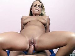 Britney Young shows her oral skills in blowjob action with Will Powers