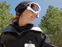 Looking for something a little more laid back How about romantic Well, nothing is more romantic than a ski trip with a couple whos very much in love. So, click play, lover.