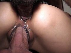 Asian bitch in the mood for something hot, sticky and creamy on her face!