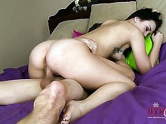 Brunette makes her dirty dreams a reality with dudes ram rod deep down her throat