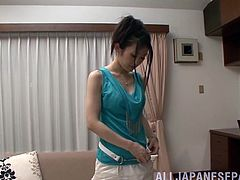 Incredible Japanese Babe Masturbates In A Solo Model Video
