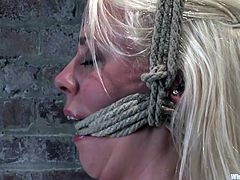 Well well what do we have here? Two sexy blondes, tied up nicely in rope and ready to get in touch with each other. Our sexy mistress Lorelei Lee knows how to make these girls feel like they're connected so she uses a couple of electrodes, two vibrators and a lot of love. Damn, this is fucking hot!