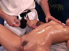 Check out this hardcore scene where the horny Kristina Rose gets a massage before being fucked by her masseuse.