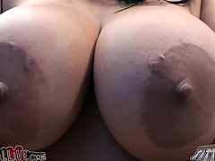 This hot and torrid chick Missy Martinez has unbelievably big boobs. Her partner goes down on her and eats her shaved and wet snatch.