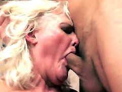 Mature blonde woman Judi seduced young boy and demonstrated him wild love