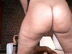 Deepthroat blowjob by the amazing and busty babe with awesome ass to her dark haired lover with big dick. Have a look at this chick in My XXX Pass sex video.