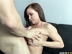 Every wished to receive in your office other persons, than the usual clients? The guy in the video has invited a big breasted milf and is very impressed. The lady takes a seat and gets undressed. Magic floats in the air. She is talented at tit job and it's so agreeable, to squeeze her boobs. Click to watch!