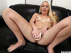 Ashley Stone with round ass having oral fun with hard dicked dude