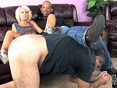 Shane Diesle has a cock so big that Alexia Skye can't even get in her mouth. She manages to take it in her pussy and he creampies her for that achievement.