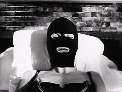 Kinky MILF is wearing black lingerie and latex mask. She is tied up and toy fucked intensively. Check out steamy BDSM video that is presented by Lust Cinema.