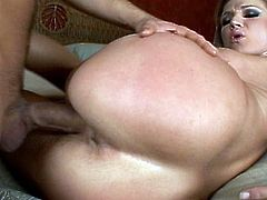 She feels amazing with such big cock fucking her brains out