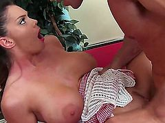 Staying alone in the coffee shop might turn out fine if the waitress is Alison Tyler ready to fuck any strangers brains out. Find out if she does...