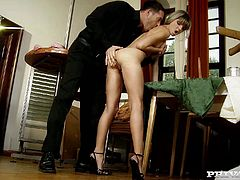 Witness this video where a blonde babe, with a nice butt and small tits, while she goes hardcore and moans like a naughty girl. She's dangerous!
