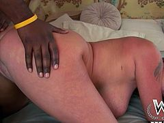 Perverted MILF Darla Crane loves big black cocks. She gets her anal pounded hard by a big black guy and ends up with a load of cum in her mouth.