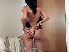 Nelli Long is a mature brunette who is posing in different outfits before she remains completely naked and starts jerking off her clit. Her body looks great for her age.