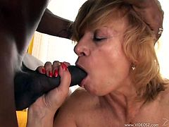 Make sure you have a look at this hot scene where this horny mature blonde is fucked by a black cock in this hardcore interracial scene.