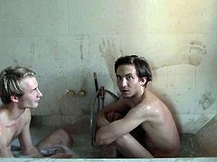 Retro sex video featuring horny couple shows them taking bath together. Then, they have steamy missionary style sex. Exciting porn video is presented by Lust Cinema.
