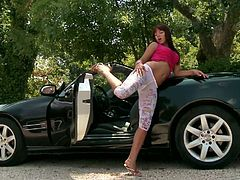 Angel Rivas masturbates on top of a luxury car