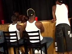 Several Black guys have some sort of gay conference. In the end a White waiter is gonna be fucked. This dude is waiting impatiently.