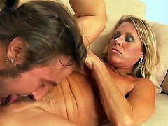 Watch the great pounding with Chad Alva and Nikki Charm. The mature woman with perfect parts of body is going to get her luscious loving holes stuffed by mans fat rod.