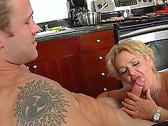 Jeremey Holmes is fingering and licking his friend hot mum, Kelly Leighs juicy beaver