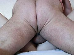 Old hotel customer fucks a horny maid in missionary position