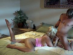 Long Haired Blonde MILF Gets Ridden Hard by a Younger Guy