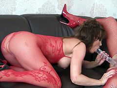 That mind blowing stud took camera to enjoy the way those well graced hotties eat wet twats of one another. Just watch these hot lesbians in sexy red play suits in Fame Digital porn clip!
