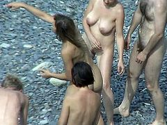 Its a real pleasure to admire these nude babes at the beach