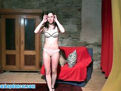 Czech newbie stripped in amateur casting video. We are sure that you will love this sweety. She is beautiful, fresh and she loves teasing and dancing all for your horny attention.