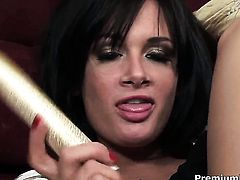 Angelic temptress makes studs schlong harder before getting her ass used