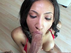 Long and black haired sexy chick with dark skin and big sexy boobies provided her freak with awesome deep throat. Watch that bodacious black chick in My XXX Pass porn clip!