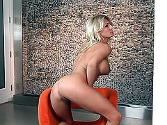 With big breasts and bald muff has dildo-hungry honeypot