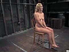Brilliant Blonde Going Through Torture And freaky bound in babe domination