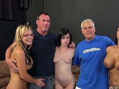 Wild orgy party with horn-mad Nikki Sexx and Jennifer White