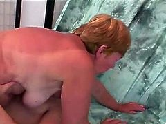 Hot 60 Club brings you a hell of a free porn video where you can see how a wild and blonde mature sucks and rides a hard and young rod of meat til she cums very hard.