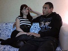 Make sure you have a look at this great hardcore interracial scene where this sexy redhead teen is fucked by a big black cock.
